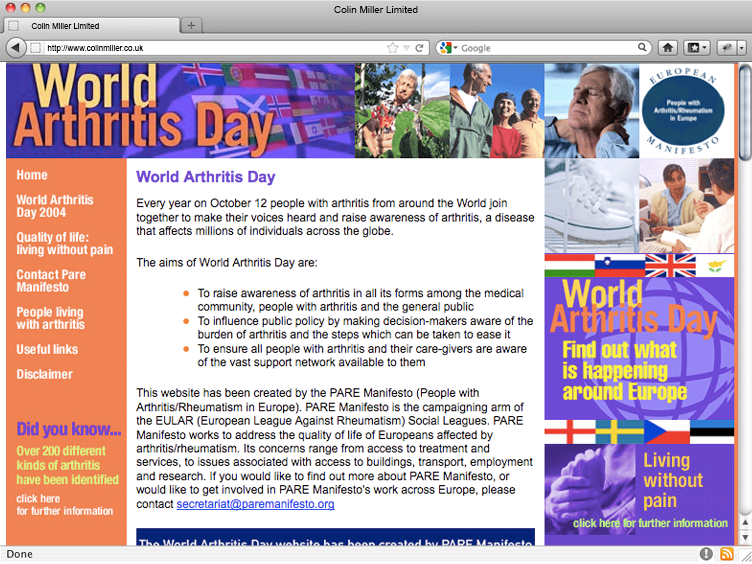 World Arthritis Day 2004