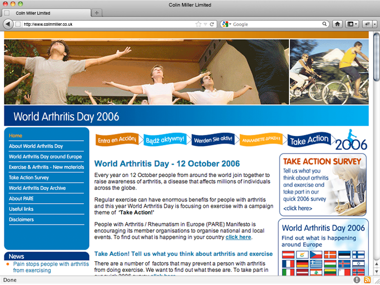 World Arthritis Day 2006