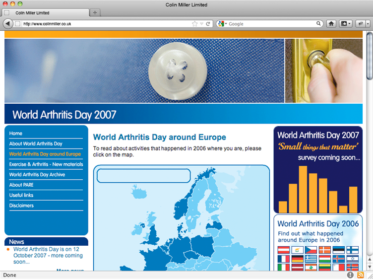 World Arthritis Day 2007
