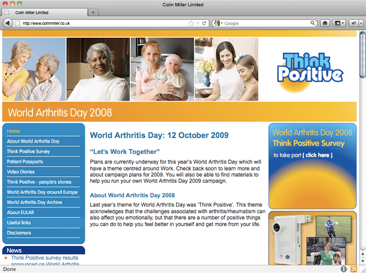 World Arthritis Day 2008